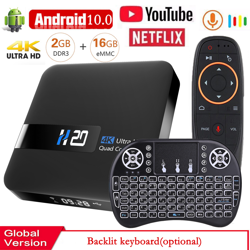 Android 10 Smart TV BOX Media Player 3D Video Youtube Netflix 2.4G wifi 2GB RAM 16GB Set Top Box media player TV Receiver(China)