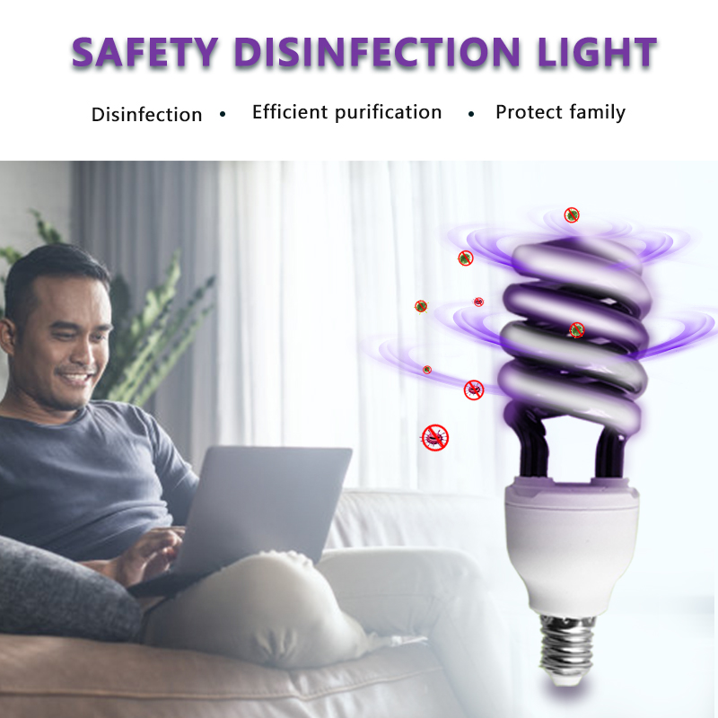 New RHS Online Energy Saving UV Ultra Violet Black Stage Sprial Lamp Light Bulb  UV Spiral Energy Saving BlackLight Lamp