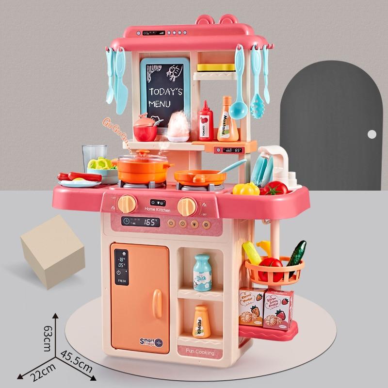 Children Pretend Play Toy Cash Register Shopping Cart Miniature Food  Kitchen Set Chef Fun Game Toys Kitchen For Children 2020