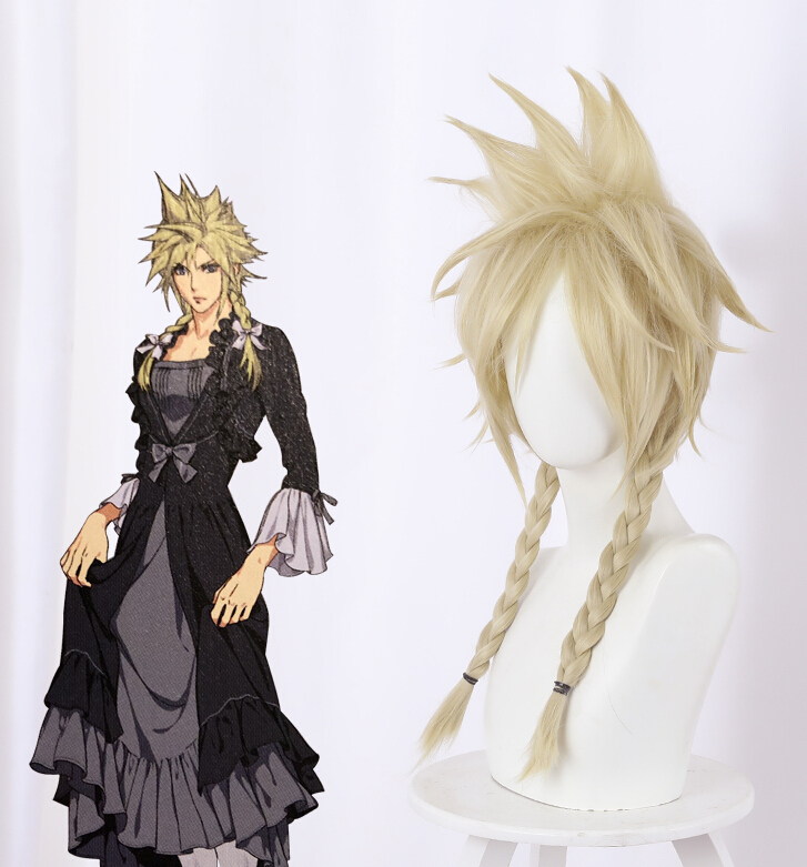 New Final Fantasy VII Remake FF7 Cloud Strife Ver Blonde Cosplay Wig