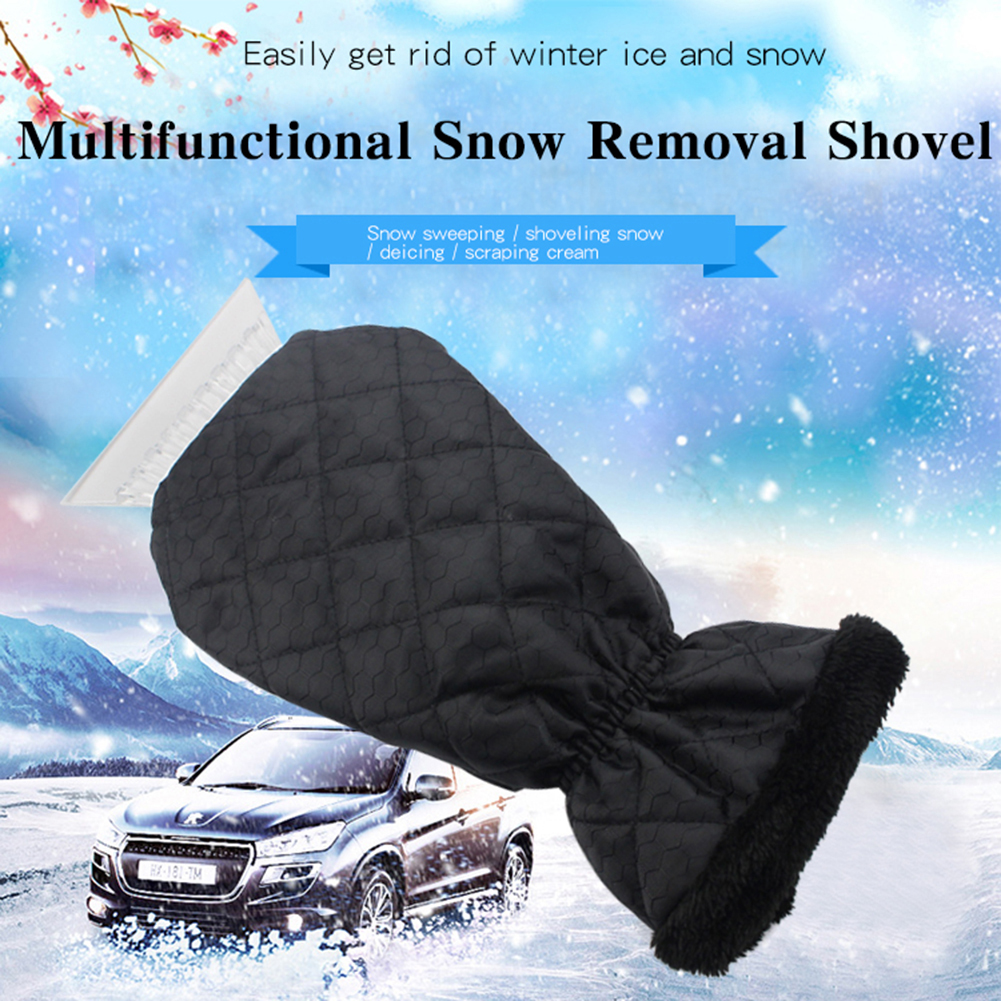 New Design Snow Scraper Removal Glove Cleaning Snow Shovel Ice Scraper Tool For Auto Window Outdoor Winter Gloves 2019 Hot