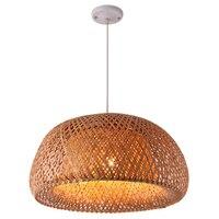 מודרני במבוק עבודת יד סרוג במבוק אריגת נברשת מסעדה בעבודת יד-באורות תלויים מתוך פנסים ותאורה באתר