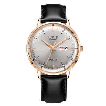 Nouvelle montre automatique hommes carnaval mode bracelet en cuir hommes montres mécaniques étanche montre-bracelet montre homme