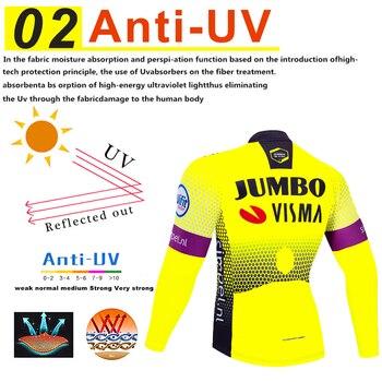 2019 ทีม Pro JUMBO ขี่จักรยาน JERSEY 9D ชุด MTB ชุดจักรยานเสื้อผ้า Mens Winter ขนแกะจักรยานเสื้อผ้าขี่จักรยานสวมใส่