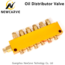 Oil-Distributor Lubrication-System Engraving-Machine for NEWCARVE 1/2-Inlet Valve 2-12outlet