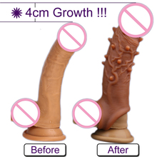 Liquid Silicone Penis Sleeve Ring Penis Extender Pump Adults Sex Toys For Men Dick Enlargement Penis Enlarger Delay Ejaculation