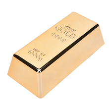 1 Pcs Gold Bar Bullion Door Stop Paperweight Simulation Gold Brick Home Door Gate Stopper(China)