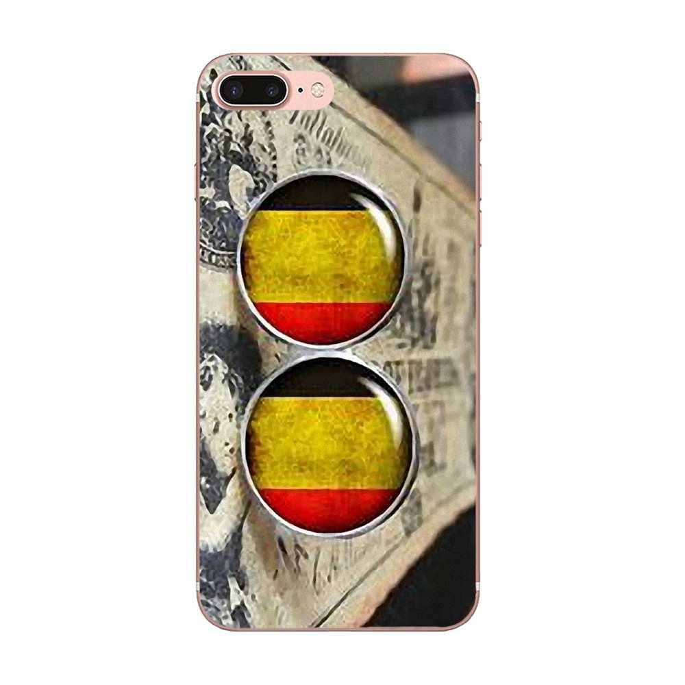 Милый чехол для телефона для Apple IPhone X XS Max XR 4 4S 5 5C 5S SE 6 6S 7 8 плюс Винтаж Ретро Флаг Бельгии