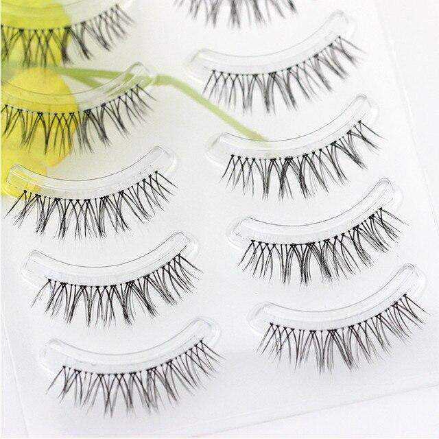 YOKPN Natural Sharpen False Eyelashes Cross-messy Thick Simulation Makeup Fake Eyelashes Imitation Grafting Effect Bride Lashes 4
