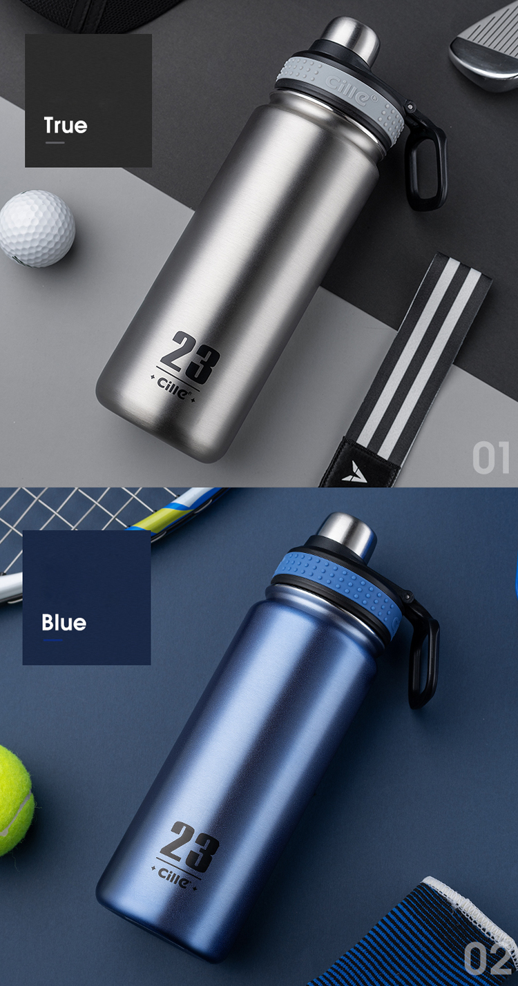 Vacuum-Flask Water-Bottle Stainless-Steel Cille Outter-Door Double-Wall Insulated