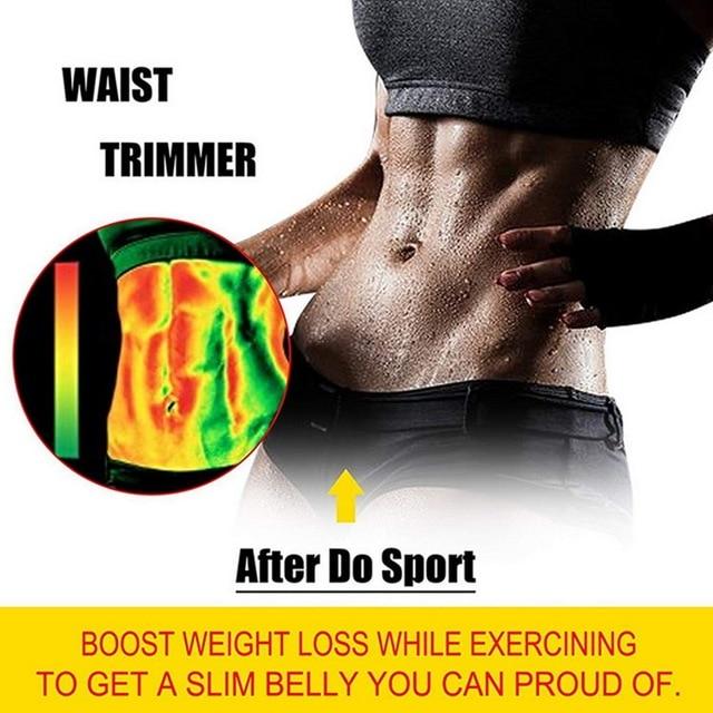 New Control Weight Loss Belt Neoprene Sauna Waist Trainer Corset Sweat Belt For Women Compression Trimmer Workout Fitness 2