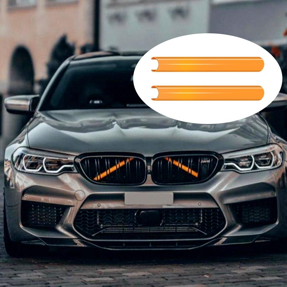 Передняя решетка обрезки полосы для BMW F30 F32 3 4 серии 4 цвета Спорт Стиль решетка обрезки полосы крышка рамки автомобиля украшения наклейки