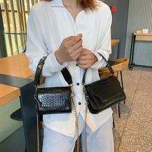 fashion alligator wide strap women handbags designer chains female shoulder crossbody bags luxury pu leather vintage flap purses