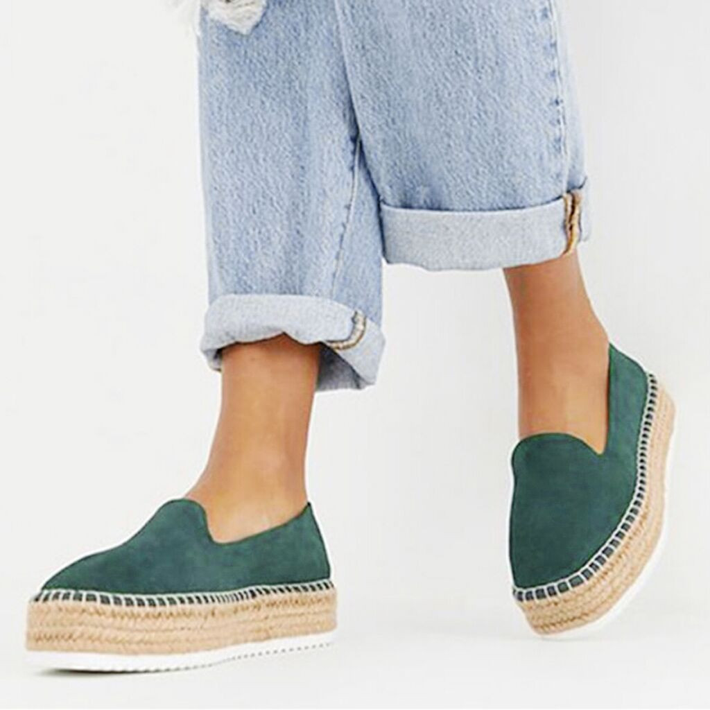Summer Platform Loafers Women Lazy Shoes Slip-on Summer Thick Casual Sneakers Breathable Weaving Flat Single Shoes Chaussures