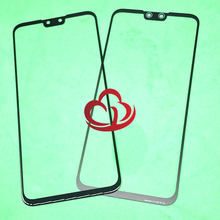 Pantalla táctil de cristal frontal LCD de repuesto, lente exterior para Huawei Y9 2019 Enjoy 9 Plus JKM LX1 JKM LX2 JKM LX3, 10 Uds.