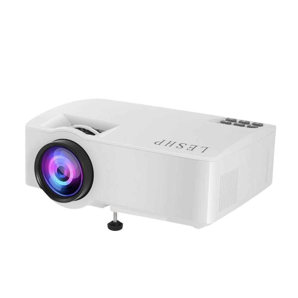 LESHP 480P lumière LED Source HD vidéo Audio jouer haut-parleur haute fidélité protection des yeux téléphone Mobile avec écran Home projecteur