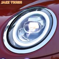 JAZZ TIGER Car Styling Colorful Start LED DRL Turn Signal Light Head Lamp Assembly LED Headlight For BMW Mini F55 F56 F57 Cooper
