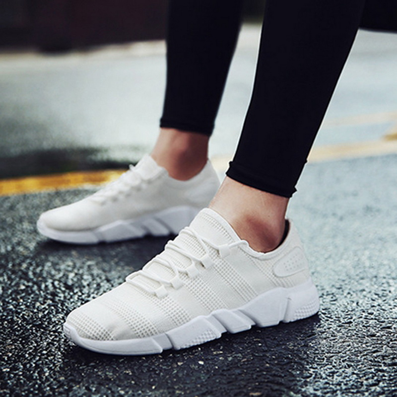 Dihope Men Sneakers Breathable Casual No-slip Men Vulcanize Shoes Male Air Mesh Lace Up Wear-resistant Shoes Tenis Masculino