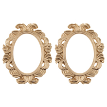 1 Pair of Golden Vintage Baroque Style Oval Resin Wall Frame Home Decor Wedding Photo Prop