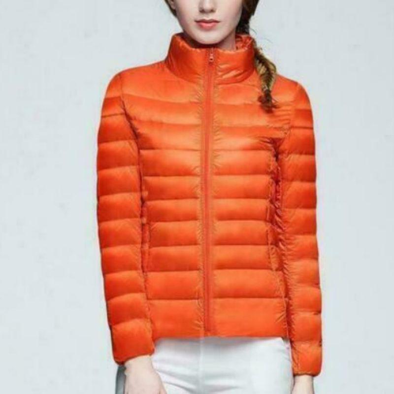 Women's Uniqlo Style Duck Down Lightweight Jacket Winter Outerwear Coat Puffer 2019 New Fashion