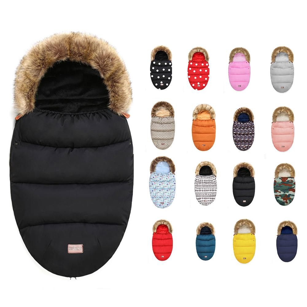 Baby Stroller Sleeping Bag Winter Warm Sleepsack Windproof For Infant Wheelchair Envelopes For Baby Footmuff Newborn Sleepsacks