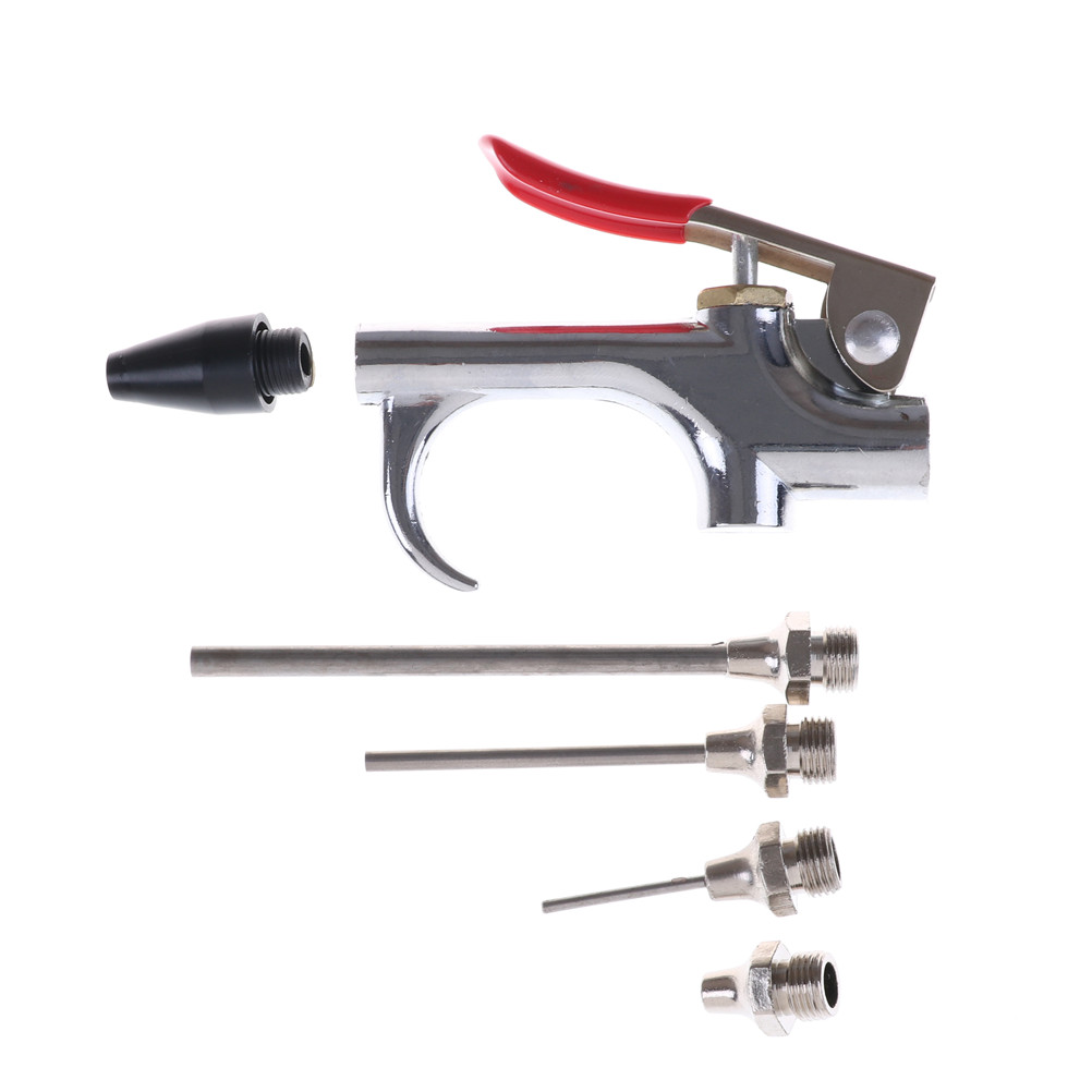 """4/"""" Air Blow Dust Gun Short Type Rubber Nozzle Compressor Duster Cleaning Tool"""