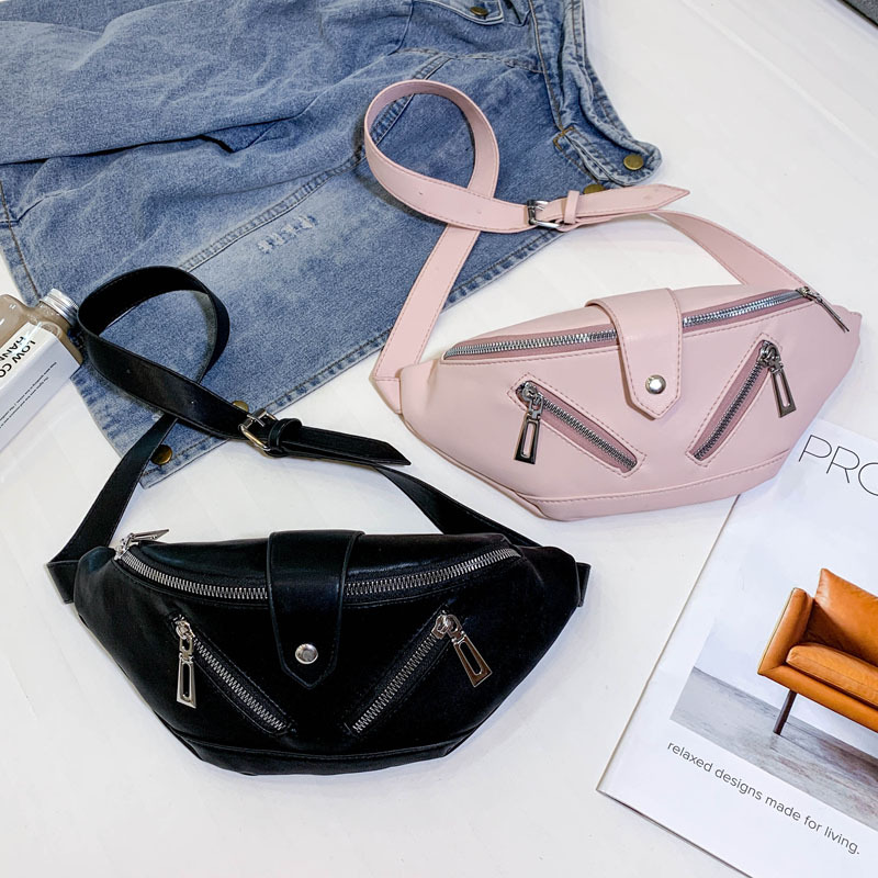 Women Fanny Waist Bag Pack Sports Fashion Multi-function Pockets Belt Bags Ladies Casual Small Leather Messenger Shoulder Bags