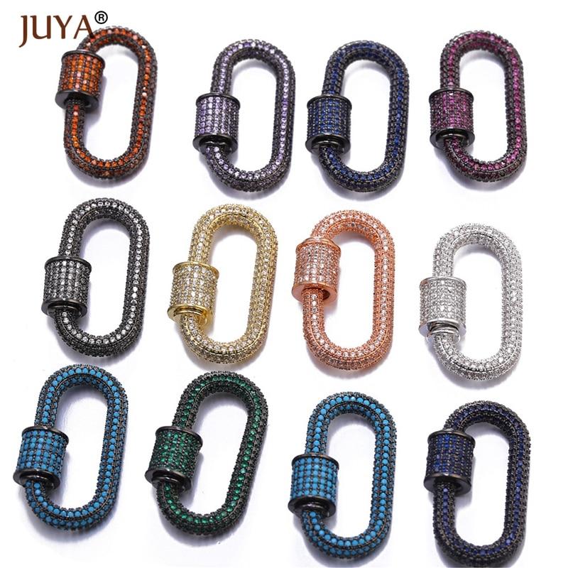 Handmade Jewelry Accessories Trendy Zircon Crystal Spiral Clasps For Jewelry Making Pendants 2019 Latest Design
