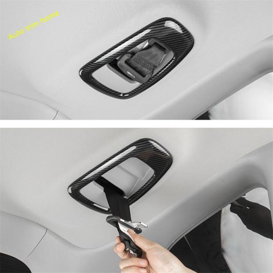 Carbon Fiber Car Seat Safety Belt Button Cover Trim For Honda CRV CR-V 2017 2018