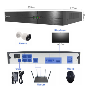 Image 2 - Movols 1080P POE H.265 NVR Set 4CH Security Camera System 2.0MP IR Indoor Outdoor CCTV Kit Waterproof Video Surveillance System