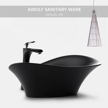 Bathroom Art Sinks Designer Basin Modern Ceramic Vessel Washing Bowl Black White Lavatory Sink With Drain Soft Hose AM938 kemaidi new arrival bathroom faucet round paint golden bowl sinks vessel basins washbasin ceramic basin sink