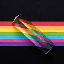 Juguetes De ciencia física, Triple Prisma de cristal reflectante de Color, espectro de luz, juguetes educativos de aprendizaje para niños, enseñanza escolar