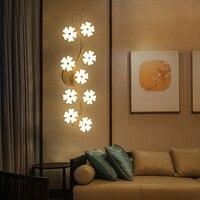Criativo moderno flor de ameixa led luzes teto para sala estar quarto interior acrílico lâmpada do teto luminárias iluminação plafonnier