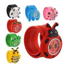 Дети дети мультфильм кнопки на милый силикон ремешок кварц часы подарок часы силикон дети% 27s запястье Z8K4
