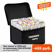 TOUCHNEW Markers 30/40/60/80/168 Color Alcohol Sketch marker Manga Drawing Brush Pens School Color Pen Art Supplies