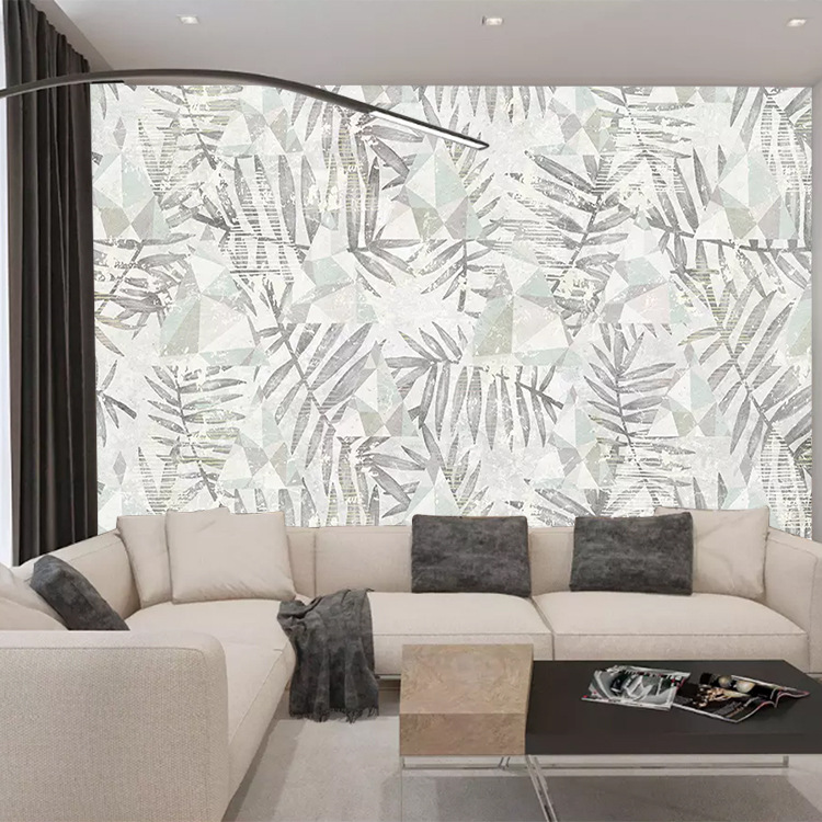 Northern European-Style Geometry Torrid Zone Plant Musa Basjoo Living Room Television Sofa Bedroom Background Wallpaper Modern M