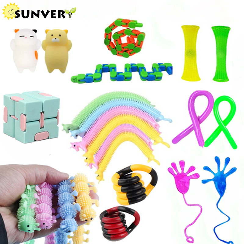 New fidget toys pack anti-stress toys package set adult figet toy mystery box toys Poppit globbles Antistress sensory hand game