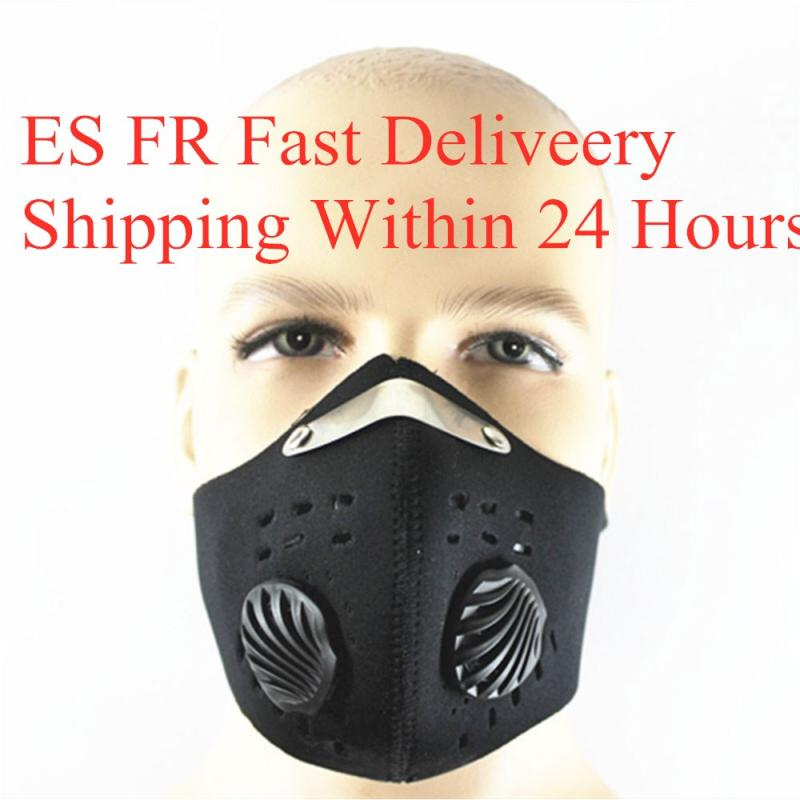 1pcs Cycling Face Mask Activated Carbon Dustproof Windproof Anti-fog Mask Gas PM2.5 With 2 Valves 2 N99 Filters Fast Delivery