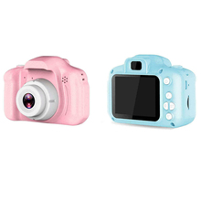 Buy Kids Cartoon Cute Camera Toys 2 Inch HD Screen Chargable Digital Mini Camera Outdoor Photography Props for Child Birthday Gift directly from merchant!