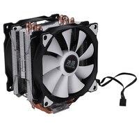 눈사람 4PIN CPU 쿨러 6 히트 파이프 더블 팬 냉각 12cm 팬 LGA775 1151 115x1366 지원 인텔 AMD|팬 & 쿨링|   -