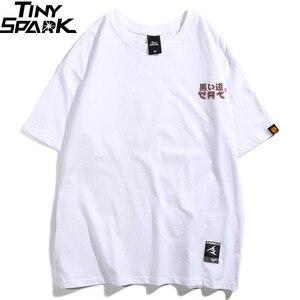 Image 2 - 2020 Hip Hop T shirt hommes japonais Ukiyo E chat T shirt Harajuku Streetwear T shirt décontracté à manches courtes été hauts T shirt japon Style