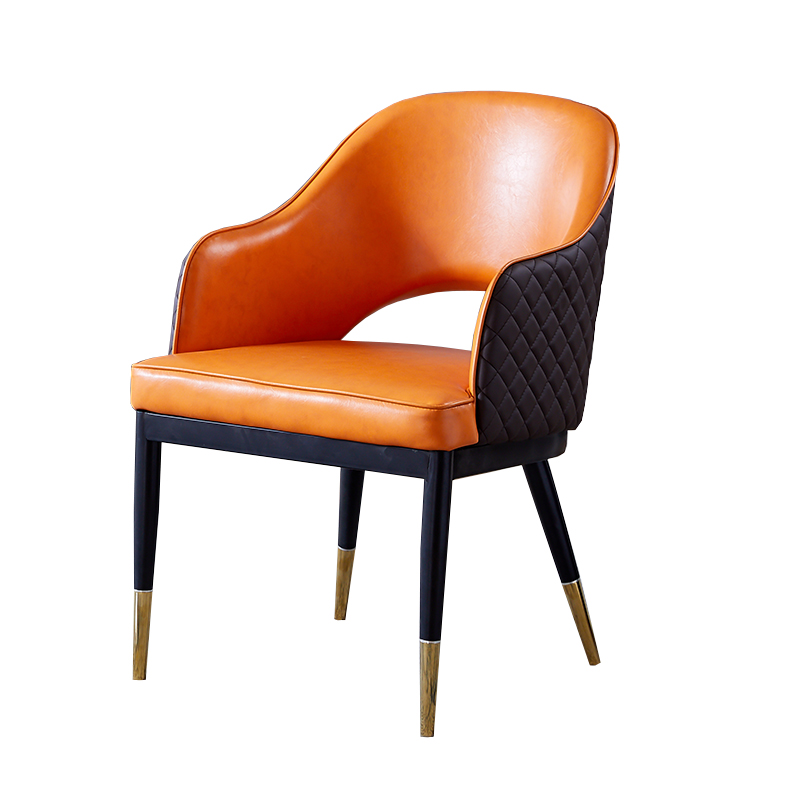 Nordic Dining Chair Postmodern Simple Back Chair Dining Room Leather Chair Household Leisure Light Luxury Style American Stool M