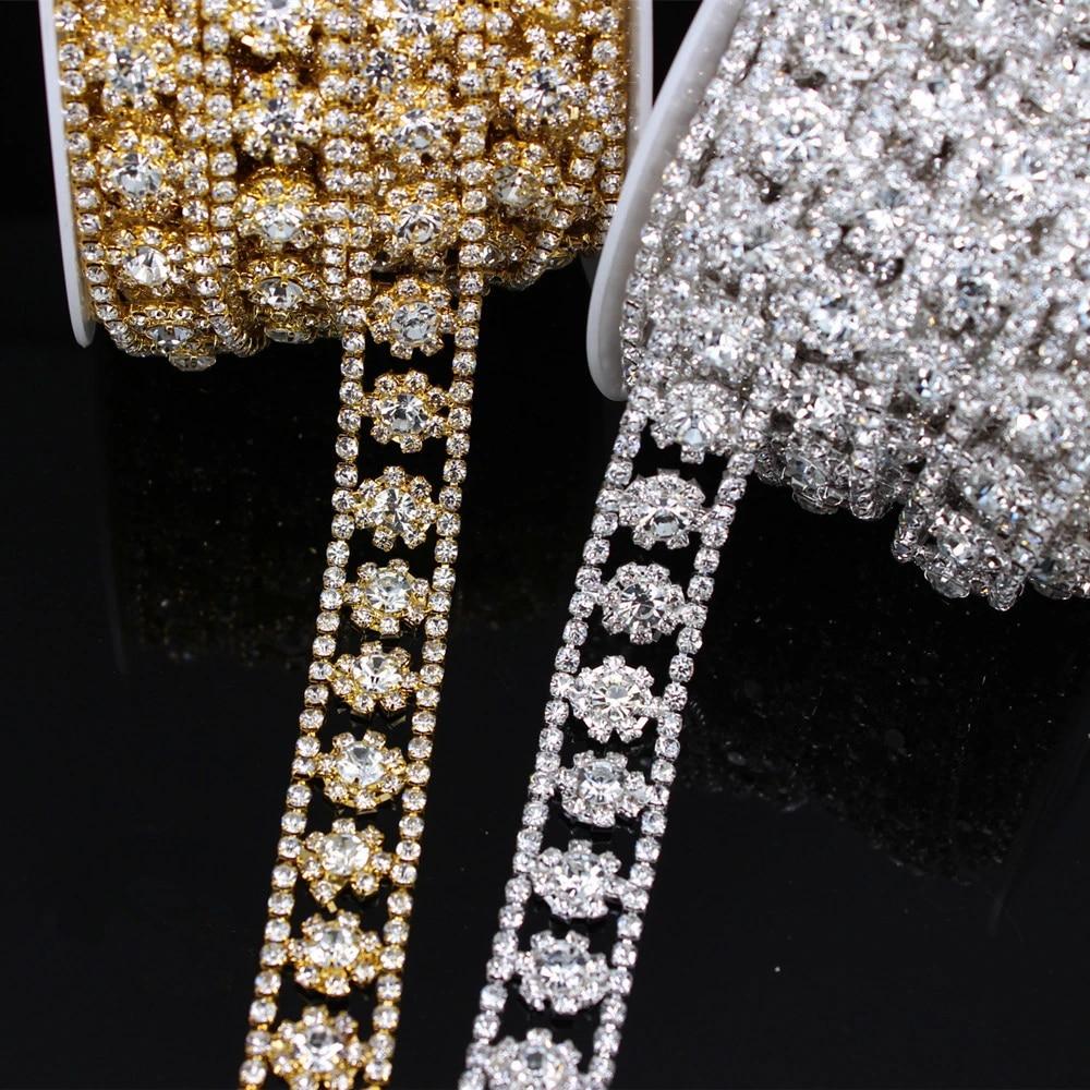 Crystal Costume DIY Trim Rhinestone Applique for Necklace Bracelet Wedding Chain