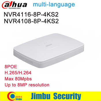 Dahua NVR Video Recorder NVR4108-8P-4KS2 8CH 16CH NVR4116-8P-4KS2 8 PoE port 4K&H.265 H.264 Up to 8MP Resolution Max 80Mbps - DISCOUNT ITEM  11% OFF All Category