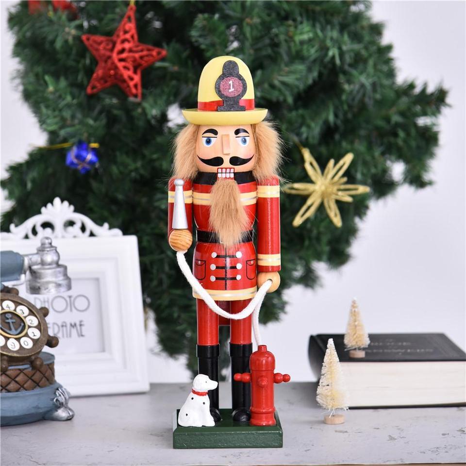 advancethy Wooden Nutcracker Christmas Decorative Nutcracker Figurine Bar Ornament For Home Decor