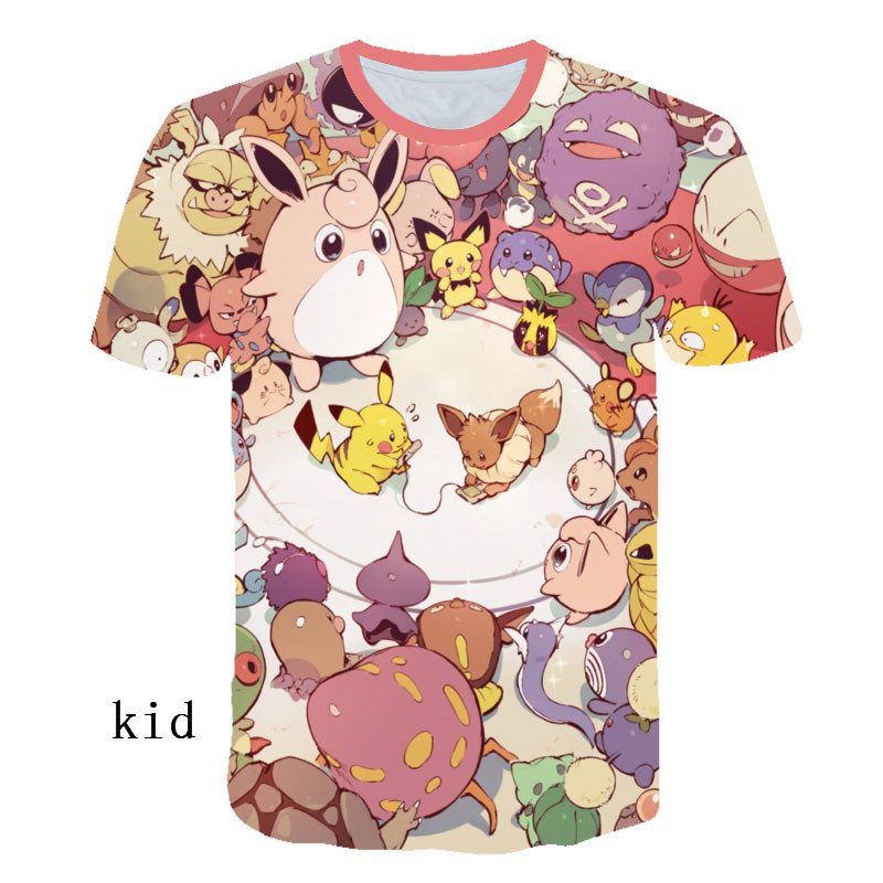 New 2019 Movie Detective Pikachu 3D T-shirt Men Women Pokemon Pikachu Tshirt Casual Anime Cartoon Short Sleeve Funny T Shirt
