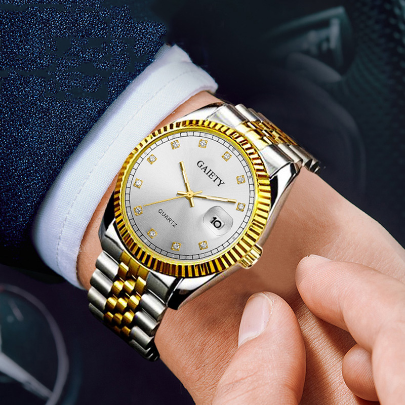 Relojes Hombre 2019 Fashion Sports Quartz Clock Top Brand Luxury Men's Rolexable Watch Men Gold Diamond Waterproof Wristwatches
