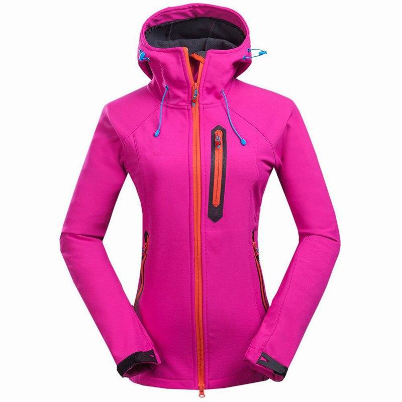 Outdoor Women Softshell jacket Autumn Winter windproof waterproof Fleece warm Windbreaker coat camping Hiking outerwear clothing