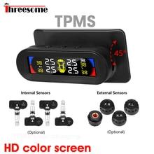 Система мониторинга давления в шинах TPMS, цветная сигнализация, большой экран, Водонепроницаемая IP67, солнечная зарядка