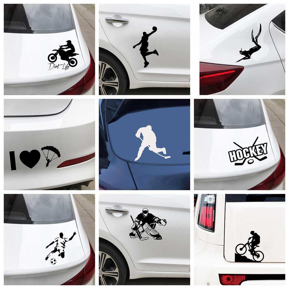 Adesivo pára-quedas adesivos de carro bicicleta basquete hóquei futebol da motocicleta auto decalques de vinil carros acessórios decoração